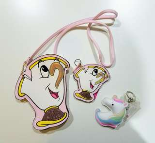 Brand new Disney bag and coin purse and keychain
