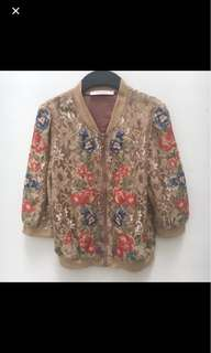 Bomber Jacket Flower Lace Solemio