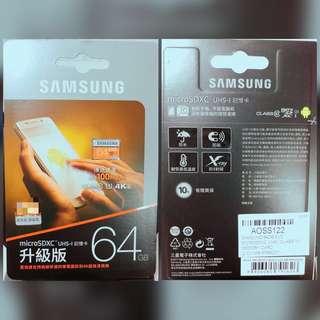 全新*Samsung EVO microSDXC 64GB