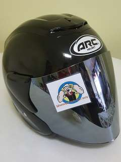 2406♧♧ ARC RITZ Black v CHROME visor For Sale !!!Brand New (YAMAHA, Honda, SUZUKI, ETC)