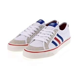 Adidas nizza Lo(AF6288)藍白低筒麂皮帆布鞋