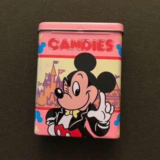 Mickey Minnie Mouse 米奇 米妮 鐵盒 糖盒 日本 迪士尼