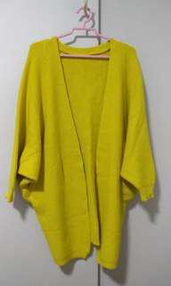 Brand New Yellow Red Oversize Cardigan