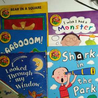 Jamboree Series Of 5 Books 1. Bear In A Square 2. Baaboom 3. I Looked Through My Window 4. I Wish I Had A Monster 5. Shark In The Park