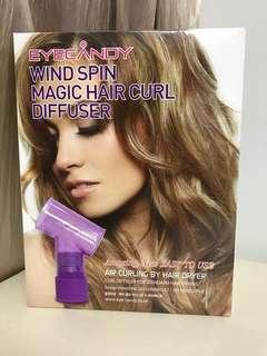 Wind spin magic hair curl diffuser