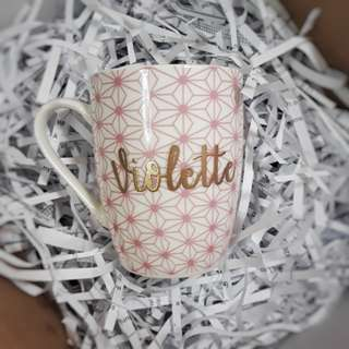 Personalised Cups Customised Mugs Cup Mug Personalized Customized Wedding Gift Birthday Present Anniversary Gift Couple Calligraphy Embossed Emboss Farewell Gift Graduation Gift Bridesmaids Gift Couple Bridesmaid Corporate Gift Housewarming Gift