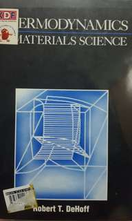 NUS Thermodynamics Material Science (Robert T. DeHoff)