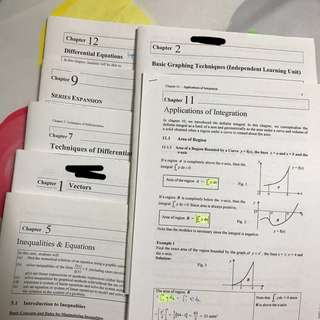 h2 math lecture notes FULL SET
