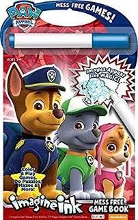 🚚 (Pre-Order)  Nickelodeon Bendon Paw Patrol Imagine Ink: Mess Free Game Book