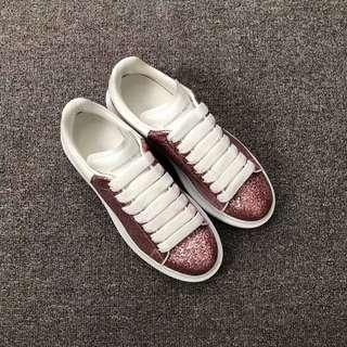 Alexander McQueen 正品 ~ 粉色白尾 女鞋