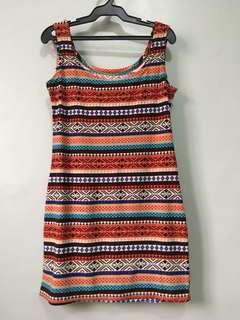 Aztec print bodycon dress