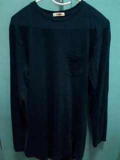 Bench Dark Blue Loose Longline Shirt