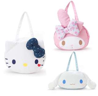 Hello Kitty My Melody Cinnamoroll Canvas Shoulder Bag