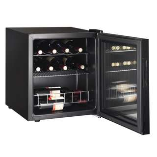 [PREMIUM QUALITY] Wine Cooler with Clear Glass Door (15 Bottles)