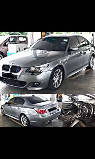 SAMBUNG BAYAR / CONTINUE LOAN  BMW E60 525i LCI GEARBOX AUTO LOCAL SPEC  M SPORT