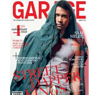Garage magazine August 2012 Sam Milby