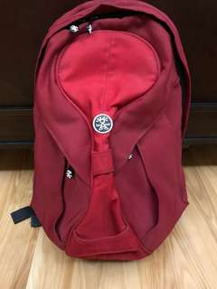 "Authentic Crumpler ""The King Single"" Backpack in Red"