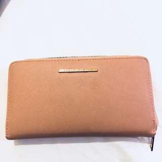 Stradivarius salmon pink wallet