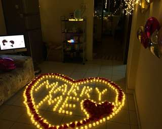 Romantic Simulation LED Electronic Flameless Swing Flickering Candle