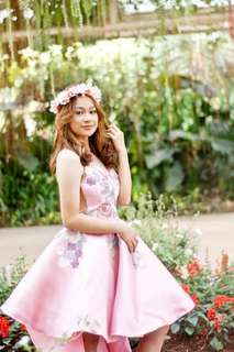 Pink High-Low Gown - FOR RENT