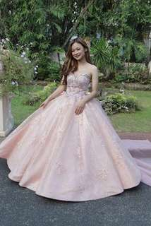 Blush Pink Ball Gown -FOR RENT