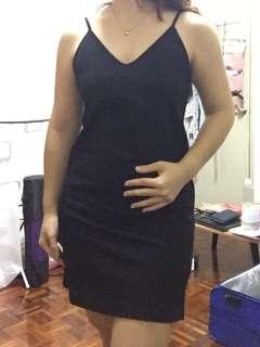 Black Sexy V Neckline Strap Dress Cotton On 黑色性感v领露背连衣裙