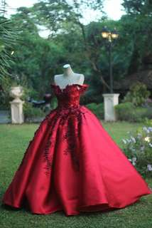 Maroon Ball Gown - FOR RENT