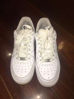 White nike Air force shoes