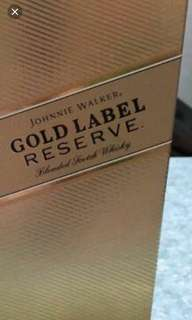 Johnnie Walker Gold Label Reserve empty wine  box, 每個