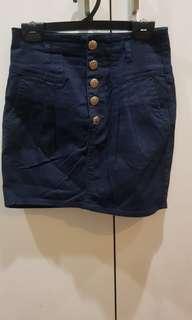 Zara TRF Skirt - High waist button down
