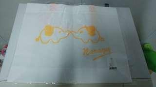 Naraya象仔圖案環保袋(全新,1個/$20,買晒4個$60)