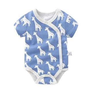 🚚 Blue Giraffe Prints Kimono Romper/Bodysuit