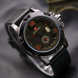 Swiss Army Date SA 0-90 Leather
