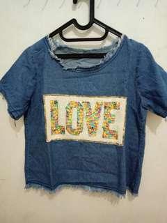 Jeans love shirt
