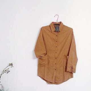☝駝色外套/長身衫