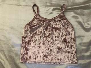 Velvet cropped top