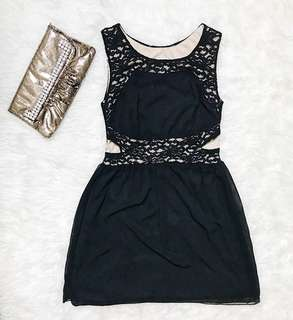NEW!! SWEET STORM Mini Dress in Black with lace