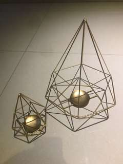 Geometric Table Centerpiece