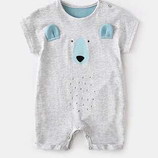 🚚 Fuzzy Bear Romper/Bodysuit