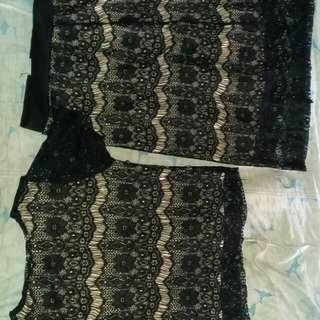 turun harga!!! lace set in black