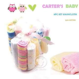 CARTER'S 8PCS TOWEL/BIMPO SET