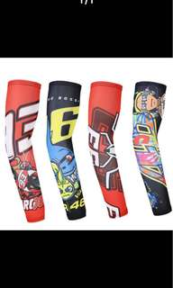 Summer Sport Sleeves Women Men UV Protection Arm Warmers Cycling Basketball Running Bike VR46 Rossi Arms Sleeves Quick Dry