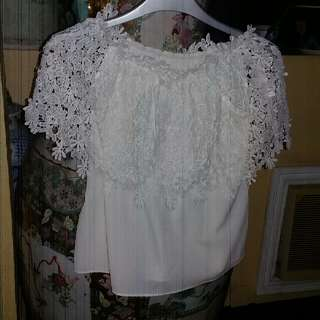Used Twice Lacy Off Shoulder Top Blouse
