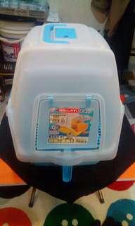 9成新貓沙盆,給水給飼料盆,除毛手套