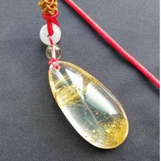🚚 【招財利器】天然清透淨亮鈦晶水滴 超值!!!現貨 (原礦、寶石、礦石、手鐲、擺件、擺飾)
