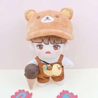 20cm Doll Clothes - Bear Set