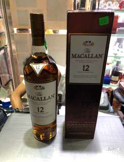The Macallan sherry oak 12 year old single malt scotch whisky 700ml 洋酒