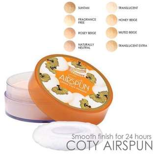 Instock Coty Airspun Loose Face Powder Translucent 070-24