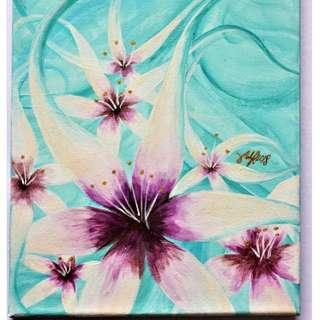 Starflower Acrylic Painting