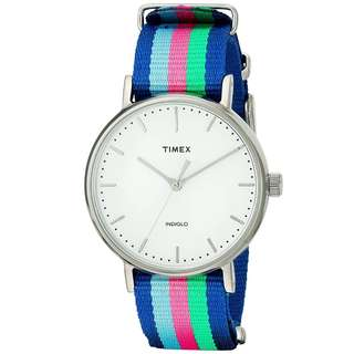 [現貨/In stock]Timex 37mm 包浩斯簡約女士尼龍帶手錶 Fairfield Bauhaus Minimalistic Women's Nato Strap Watch (TW2P91700)